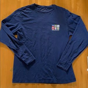 Vineyard Vines Long Sleeve Men's Tee, Small. Blue